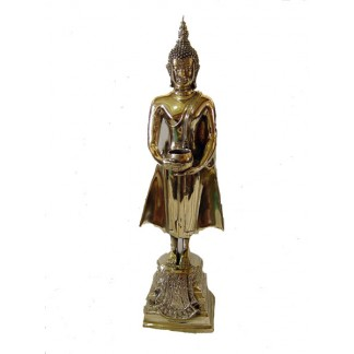 Brass Finish Buddha Statue