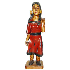 Hand Carved Native Woman