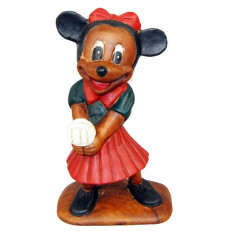 Hand Carved Mini Mouse