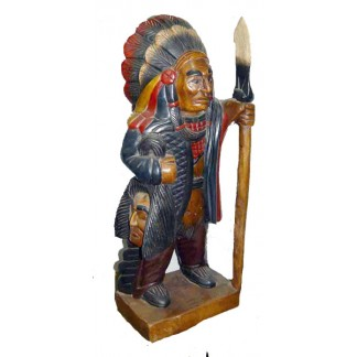 Carved Native American Chief-1