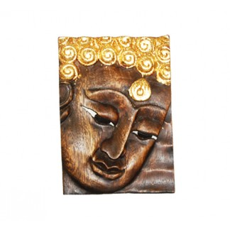 Face of Buddha In Brown Right