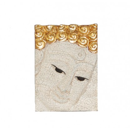 Face Buddha in White Right