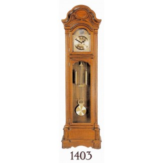 Grandfather Clock Lt Oak Finish