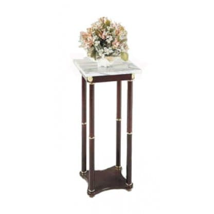 White Marble Plant Stand