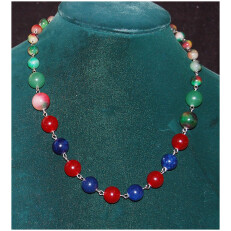 Multi Color Agate Necklace