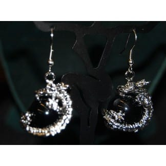 Dragon Earring Black