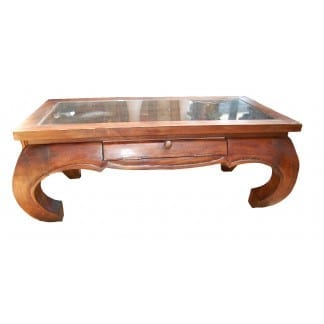 Glass Top Opium Table