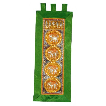Kalaga Tapestry-Elephant-Green