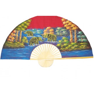 Hand Painted Fan J-F-22