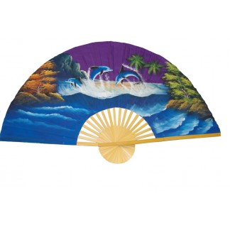 Hand Painted Fan J-F-35-14