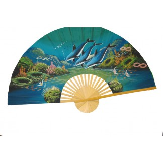 Hand Painted Fan J-F-35-19