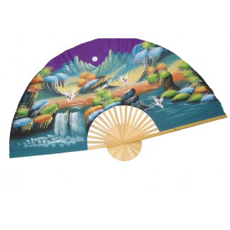 Hand Painted Fan J-F-35-20