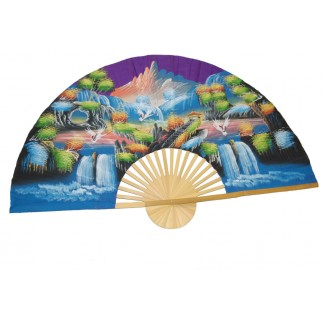 Hand Painted Fan J-F-35-22