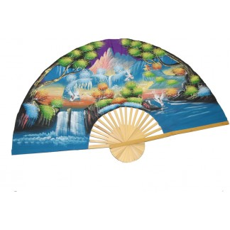Hand Painted Fan J-F-35-23