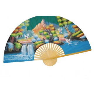 Hand Painted Fan J-F-35-24