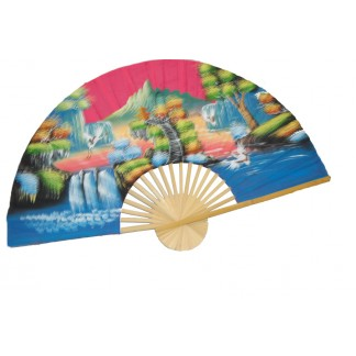Hand Painted Fan J-F-35-26
