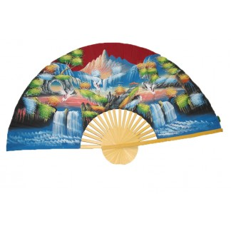 Hand Painted Fan J-F-35-27