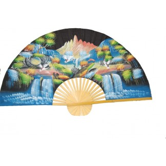 Hand Painted Fan J-F-35-35