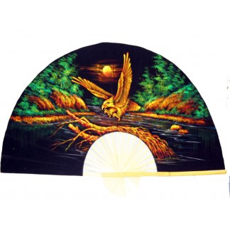 Hand Painted Fan of an Eagle