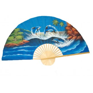 Hand Painted Fan J-F-35-16