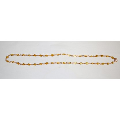 Yellow Stone Dipped Necklace