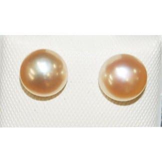 Pink Tinted Pearl Earring