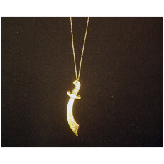 Gold Plated Scimitar Necklace
