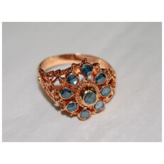 Copper Blue Stone Ring