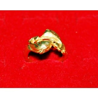 Dipped Gold Ring Dolphin Design