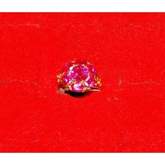 Oval Ring Red Ruby Stone