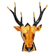 Carved Deer Head 14 in