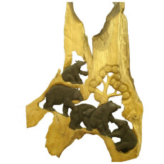 Bear Relief Carving B