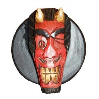 Red Devil Head Circle Box