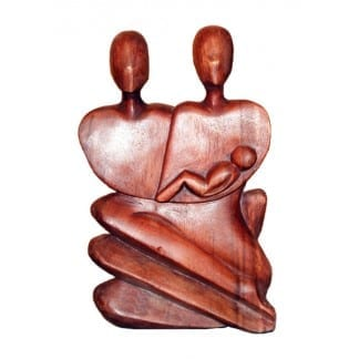 Family Wood Statue
