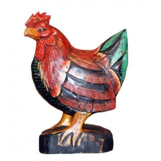 Carved Rooster on a Stand