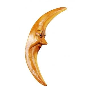 Crescent Moon with Face