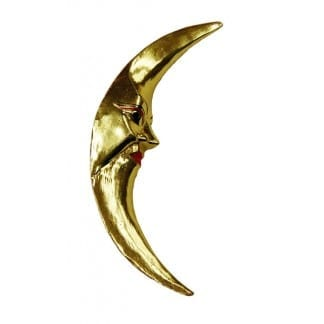 Gold Finished Crescent Moon