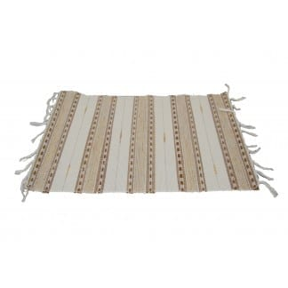 Brown-Cream Cotton Placemat