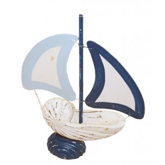 Wood Seashell Boat-1
