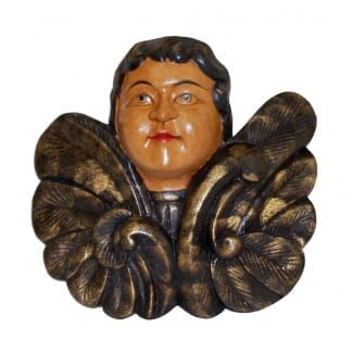 Wall Hanging of Face with Wings