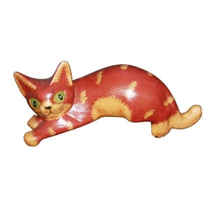 Laying Red Cat