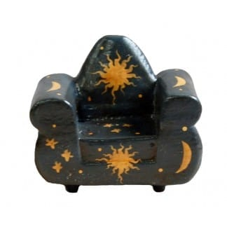 Wood One Seater Chair Black Sun