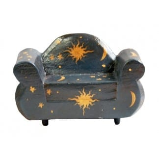 Wood Two Seater Chair BlackStar