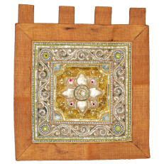 Tapestry Orange with Design