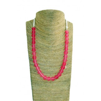 Coconut Art Necklace-------Red