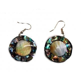 Multi-Color CirSeaShell Earring