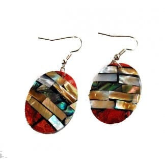 Multi-Color Sea Shell Earring