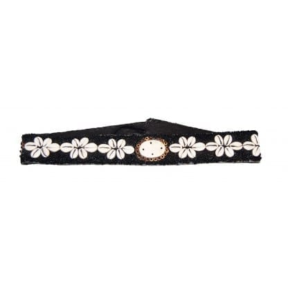 Black Belt with Sea Shell Desig