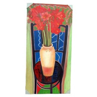 Abstract Painting Flowers Vase