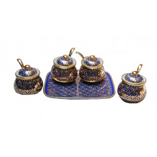 Benjarong Condiment Set